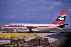 G-AWDG 707-138B British Eagle Eagle Airlines, Cargo Airlines, Boeing 707, Boeing Aircraft, British Airline, British Airways, Mercury, Illinois, Good Ol Times