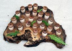 Adventskalender - Adventskalender Pilze zum selber füllen - ein Designerstück von Handdruckerin bei DaWanda
