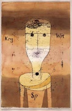 Paul Klee   'Sparse Words of the Thrifty'  1924   29.5 x 45 cm