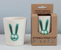 Jack N Jill Biodegradable storage/rinse cup Biodegradable Cups, Biodegradable Products, Cruelty Free Toothpaste, Cups Writing, Flavored Toothpaste, Jack And Jill, Cute Kitchen