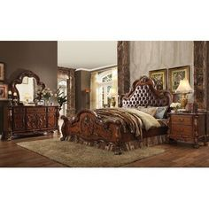 [ Victorian Bedroom Ideas Decor Interior French Amp Style Furniture Sets Homey ] - Best Free Home Design Idea & Inspiration Upholstered Bedroom Set, Oak Bedroom, King Bedroom Sets, Queen Bedroom, Girls Bedroom, Master Bedroom, Mirrored Bedroom, Tufted Headboards, Tufted Bed
