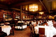Locke-Ober, Downtown Crossing. Step back into the 1800's as you enter one of Boston's oldest restaurants, decked out with imported French mirrors, artisan-carved mahogany, oak paneling, stained glass and sterling silver chafing dish domes.