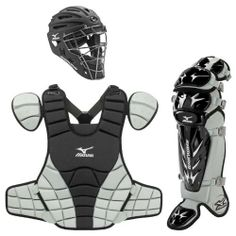 Mizuno Samurai Intermediate Catcher's Package, Black by Mizuno. $249.95. The Mizuno Samurai Catcher's Set includes the newly designed G4 Samurai catcher's helmet, G3 Samurai shin guards and the G3 Samurai chest protector. DryLite Technology includes a series of high performance technical fabrics designed with special yarn, fabric structure, and dyeing process. DryLite transports perspiration vapor away from the body, cooling down body temperature. DryLite is comfortable, breath...