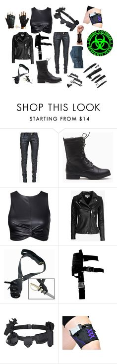"""""""Zombie Outbreak"""" by supercait12 on Polyvore featuring Balmain, IRO, CO and 5.11 Tactical"""
