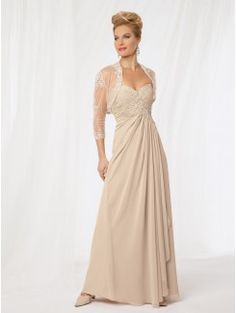 Empire Line Sweetheart Floor-Length Chiffon Mother of the Bride Gown