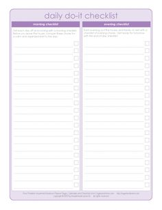 Print out to do list for a DIY planner/organizer