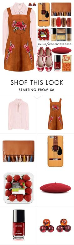 """60-Second Style: Pinafores"" by barbarela11 ❤ liked on Polyvore featuring Miu Miu, Boohoo, Rebecca Minkoff, Gucci and Yves Saint Laurent"
