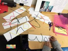 Wikki Stix Spelling Words center idea. Just copy spelling list! #firstgrade #secondgrade