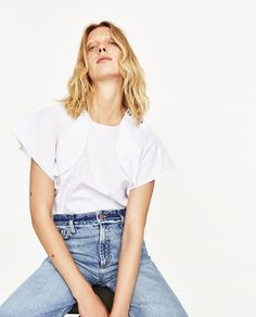 That one top for every occasion. WHITE POPLIN TOP WITH FRILLED SLEEVES AND BUTTONS from Zara, $17.95