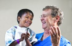 Operation Smile Co-founder Dr. Bill Magee embraces 5-year-old Sarban at Operation Smile's state-of-the-art Comprehensive Care Center in Guwahati, India — one of our 20 centers providing year-round care. http://ow.ly/fpo4T