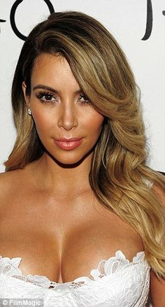 Kim led the way with blonde highlights in October 2013...