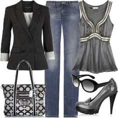 Love this blazer. I have always loved a black blazer with jeans:)