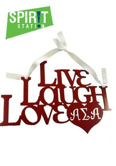 Live, Laugh, Love Greek Wall Art