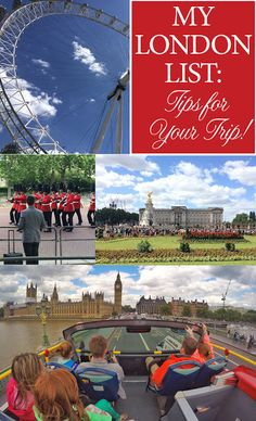 Less-Than-Perfect Life of Bliss: My London List: Tips for Your Trip!