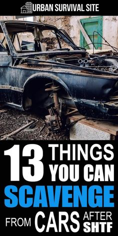 If you're anywhere near a city when the SHTF, you'll come across thousands of vehicles that are full of useful survival items you can scavenge. Survival Items, Survival Supplies, Urban Survival, Survival Food, Wilderness Survival, Outdoor Survival, Survival Knife, Survival Prepping, Emergency Preparedness
