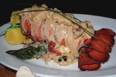 Lobster Thermidor... Chef Luis Hernandez of M Restaurant and Bar (Galveston, TX)  #Lobster