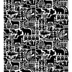 Marimekko Kanteleen Kutsu Upholstery Fabric