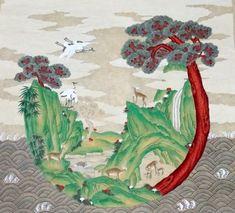 전국민화 공모전 <꿈꾸는 세상> : 네이버 블로그 Oriental, Korean Painting, Korean Art, Rooster, Miniatures, Behance, Culture, Fine Art, Illustration