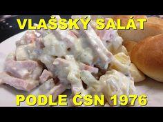 Vlašský salad according to ČSN 1976 Czech Recipes, Dips, Meat, Chicken, Youtube, Food, Spreads, Sauces, Design