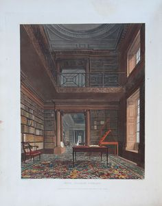 A Library with gallery, Eton College