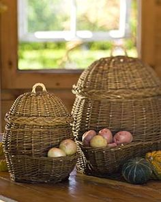 Old world style potato and onion storage baskets, $49.95.