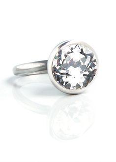 swarovski crystal ring by Miglio Queens Jewels, Swarovski Crystal Rings, Jewelry Accessories, Jewelry Design, Designer Jewellery, Jewlery, Cufflinks, Wedding Ideas, Engagement Rings