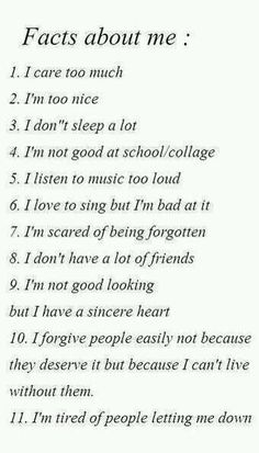 facts about me: