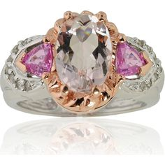 Click here for Ring Sizing ChartRing is 14k white gold with rose gold accentsJewelry features morganite