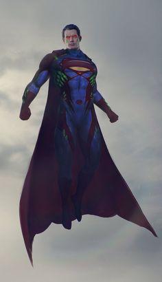 A kryptonite immune superman, George Pricope-Galan on ArtStation at https://www.artstation.com/artwork/a-kryptonite-immune-superman