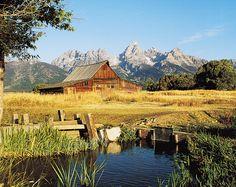 Mormon Row Barn Near Jackson Hole Wyoming In Grand Teton National Park