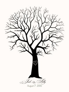Finger Print Tree template,, so gonna make this for my home <3