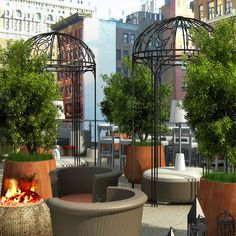 #McCARTAN rendering for the terrace at Eventi hotel #luxury #design #interior