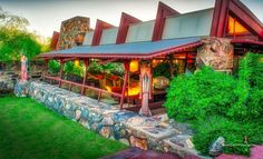 Garden Room & Courtyard #taliesinwest #frankllyoydwright #franklloydwrightfoundation #architecture #scottsdale #arizona