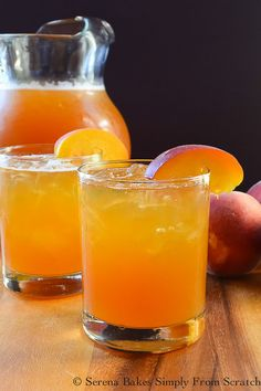 Peach Whiskey Iced Tea   Serena Bakes Simply From Scratch Good Whiskey Drinks, Whiskey Recipes, Iced Tea Recipes, Alcohol Drink Recipes, Cocktail Recipes, Bourbon Drinks, Whiskey Glasses, Whiskey Bottle, Peach Whiskey
