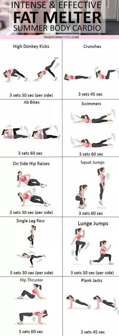 summer body cardio workout