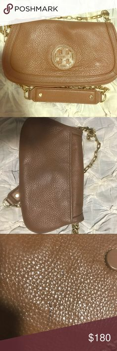 Tory Burtch Clutch Small town mark on inside glad (see pictures) slight distress on back side but still in excellent condition Tory Burch Bags Crossbody Bags