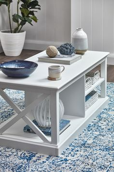 Hamptons Coastal Coffee Table by Temple & Webster. Get it now or find more Coffee Tables at Temple & Webster. Hamptons Living Room, Hamptons Bedroom, Hamptons Style Decor, Hamptons House, The Hamptons, Table Decor Living Room, Rugs In Living Room, Hampton Furniture, Decoration