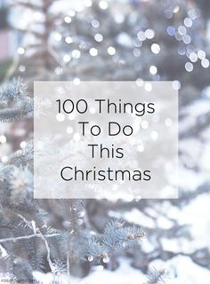 Inspired by Pinterest one of our favourite UK Pinners @rosalilium has created 100 Things to do this Christmas. Download the list to print and keep to help inspire you this festive season. From taking a family portrait, to making your own snow globe or finding the perfect Christmas jumper, you'll not run out of ideas with this list.