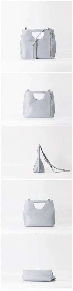 Handmade Women Leather Shoulder Bag Messenger Bag •Adjustable shoulder strap. •Inside a small bag •Brass hardware •Length: 36.5cm; Height: 29cm; Width: 11cm; •Color: Light blue