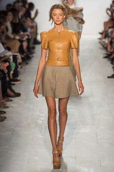 Michael Kors Spring 2014 Ready-to-Wear Collection Slideshow on Style.com...amazing structured jacket