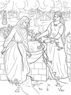 Rachel and Leah coloring page from Misc. Artists category. Select from 24848 printable crafts of cartoons, nature, animals, Bible and many more.