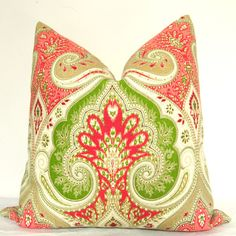 On BOTH SIDES Pillow Cover - Decorative Pillow - Throw Pillow - Kravet... ❤ liked on Polyvore