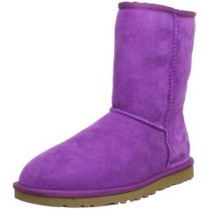 Outsole: Treadlite by UGG. Twin face upper with suede heel counter. Pre-treated to repel water and stains. Overlock stitch detail on seams. Leather heel label with embossed UGG logo. Suede Heels, Leather Heels, Cute Uggs, Purple Uggs, Ugg Boots Sale, Sheepskin Boots, Fur Boots, Ugg Classic, Bearpaw Boots
