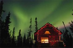 Northen Lights for Christmas Cabin