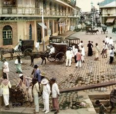 """Rosario Street and Binondo Church from the Pasig River, Manila, Philippine Islands, Early Century"" Image source: Underwood & Underwood @ John Tewell Colorized by E. Philippines Culture, Manila Philippines, Filipino Architecture, Philippine Architecture, Gothic Architecture, Ancient Architecture, Old Photos, Vintage Photos, Filipino Culture"