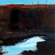 The Bank of Turf, John O'Grady 2013 - Landscape painting - Turf can be cut to great depth