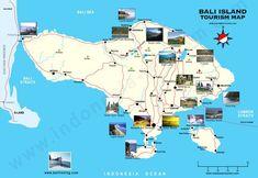 Carte de Bali : Plan touristique Bali