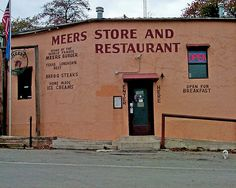 Great burgers - The old Meers Store and Restaurant, near Lawton, Oklahoma