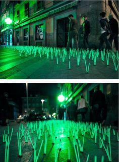 Outdoor Light Interventions by Luzinterruptus Illuminate the Streets of Madrid  http://www.thisiscolossal.com/2012/06/outdoor-light-interventions-by-luzinterruptus-illuminate-the-streets-of-madrid/