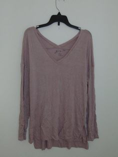 e56cff72e4 HIPPIE ROSE JUNIORS/COZY V-NECK TOP/CRYSTAL MAUVE/M /NWT/RAYON/B00180  #fashion #clothing #shoes #accessories #womensclothing #tops (ebay link)